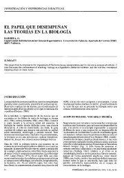 el papel que desempenan las teorias en la biologia - Raco
