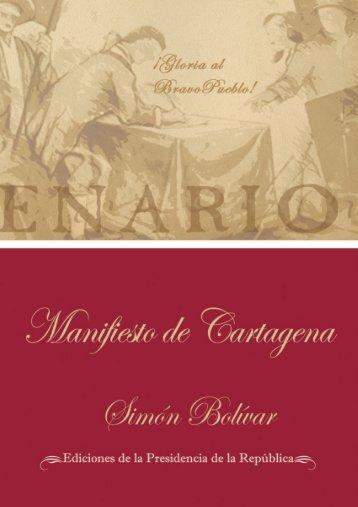 Manifiesto de Cartagena - Ministerio del Poder Popular del ...