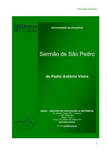 Sermão de São Pedro - Unama