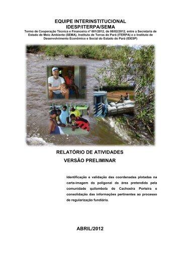 Relatório Preliminar de Cachoeira Porteira - idesp - Governo do ...