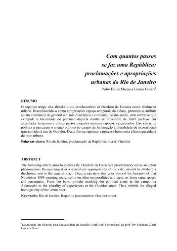 Com quantos passos se faz uma República: proclamações e ... - cchla