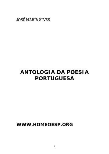 antologia da poesia portuguesa - Homeopatas sem fronteiras