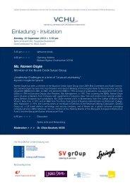 Einladung - Invitation - Verband Schweizer Unternehmerinnen