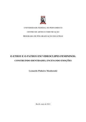 O ETHOS E O PATHOS EM VIDEOCLIPES FEMININOS: - UFPE PPGL