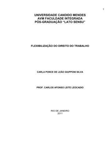 lato sensu - AVM Faculdade Integrada