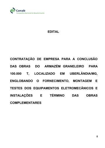 edital contratação de empresa para a conclusão das