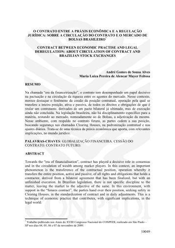 10049 o contrato entre a práxis econômica ea ... - publicaDireito