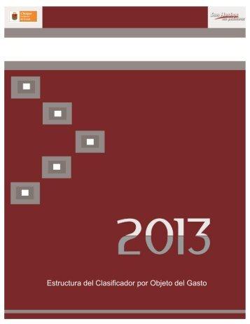 Clasificador 2013 - Adquisiciones.chiapas.gob.mx
