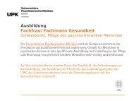Ausbildung Fachfrau / Fachmann Gesundheit - Universitäre ...