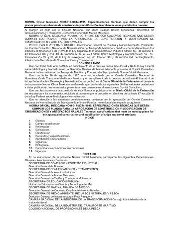 NORMA Oficial Mexicana NOM-017-SCT4-1995, Especificaciones ...