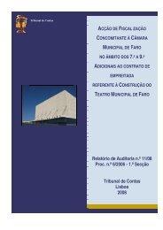 Relatório de Auditoria nº 11/2008 - 1ª Secção - Tribunal de Contas