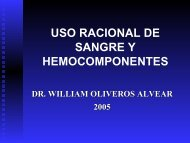 USO RACIONAL DE SANGRE Y HEMOCOMPONENTES