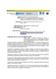Resolução RDC nº 73, de 03 de agosto de 2000 - RedSang