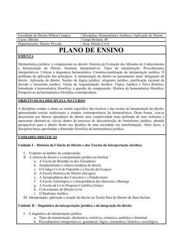 107 - Programa de Hermeneutica Juridica e ... - Milton Campos