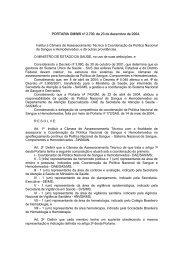 PORTARIA GM-MS nº 2700, de 24-12-2000 - Secretaria de Estado ...