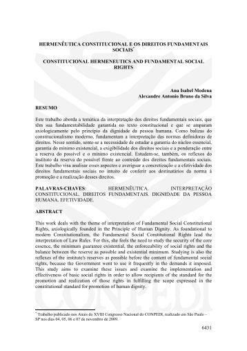hermenêutica constitucional e os direitos ... - publicaDireito