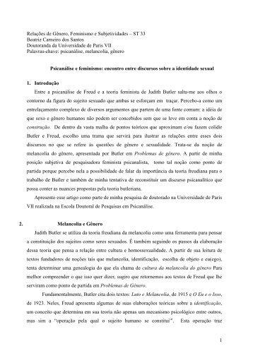 Psicanálise e feminismo - Seminário Internacional Fazendo Gênero