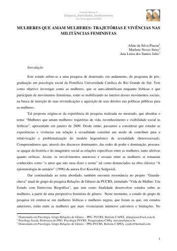 Aline da Silva Piason - Seminário Internacional Fazendo Gênero