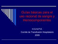 Guías básicas para el uso racional de sangre y Hemocomponentes