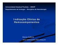 I ndicação Clínica de Hemocomponentes - Unesp