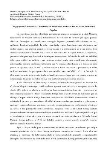 Gênero: multiplicidade de representações e práticas sociais – GT 38 ...