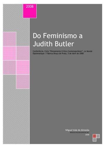 Do Feminismo a Judith Butler - Miguel Vale de Almeida