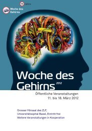 Woche Des Gehirns - Neuroscience Network Basel, University of ...