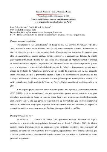 Caso Astrid/Eulina - Seminário Internacional Fazendo Gênero