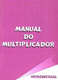 Manual do Multiplicador - Homossexual. - BVS Ministério da Saúde