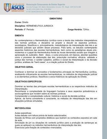 hermeneutica juridica - Asces