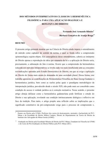 Bárbara Gonçalves de Araújo Braga; Fernando José ... - Conpedi