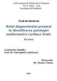 rolul diagnosticului prenatal în identificarea patologiei ... - Gr.T. Popa