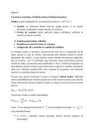 Fizica solidului. Note de curs - Lectia 4 (anul universitar 2011-2012)