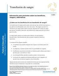 Blood Transfusion - University Health Network