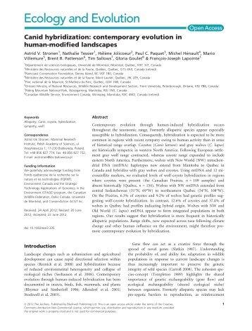 Canid hybridization - The Rewilding Institute