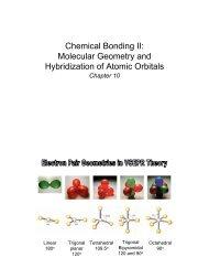 Chemical Bonding II: Molecular Geometry and Hybridization of ...