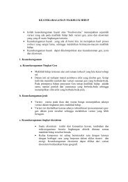 KEANEKARAGAMAN MAKHLUK HIDUP • Istilah ... - Direktori File UPI
