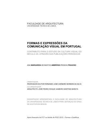 formas e expressões da comunicação visual em portugal