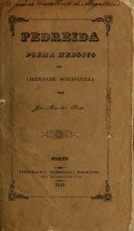 Pedreida : poema heroico da liberdade portugueza