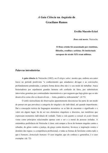 A Gaia Ciência na Angústia de Gracilano Ramos - Ercilia Macedo ...