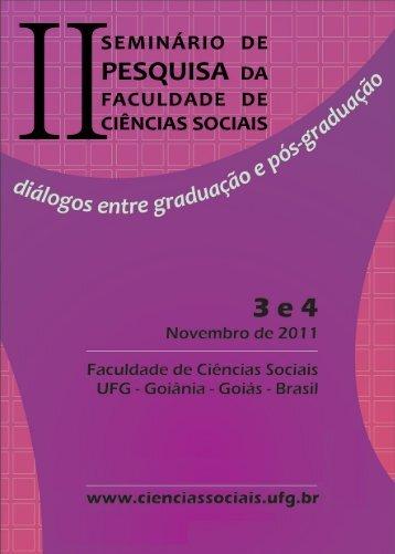 Caderno de resumos - Faculdade de Ciências Sociais - UFG