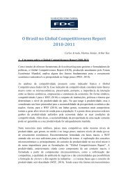 O Brasil no Global Competitiveness Report 2010-2011