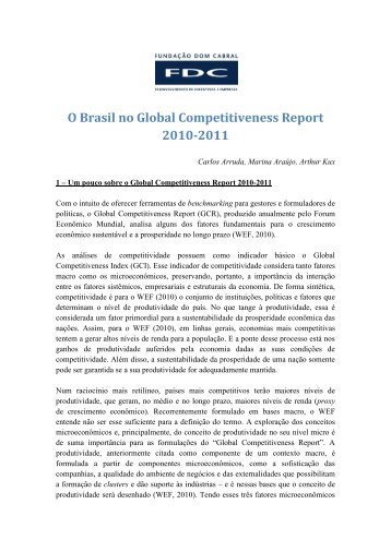 O Brasil no Global Competitiveness Report 2010-2011