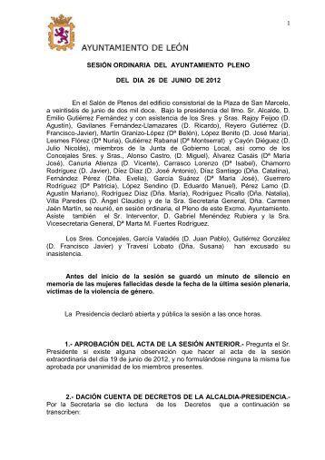 CABEZA PLENO - Ayuntamiento de León
