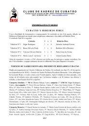 Informativo de Agosto de 2012 - Clube de Xadrez de Cubatão
