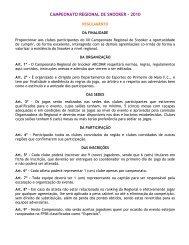 CAMPEONATO REGIONAL DE SNOOKER - 2010
