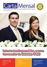 Roberto Luiz Barroso Filho, o novo Governador do Distrito 4420