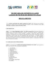 secretaria de esportes e lazer i jogos municipais do idoso/viva mais ...