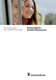 Kantonalbank- PrePaid MasterCard