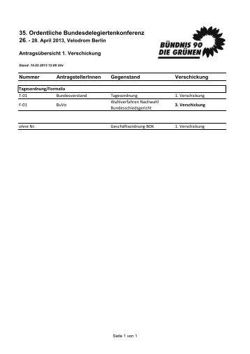 35. Ordentliche Bundesdelegiertenkonferenz 26.